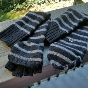Michael Kors, striped gloves / mittens